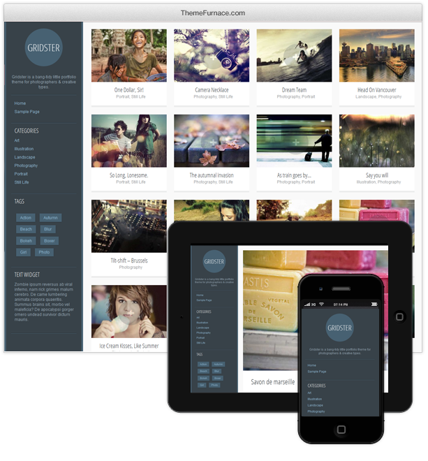 Gridster WordPress Theme