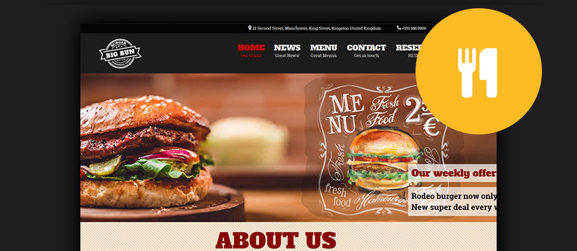 Best WordPress Restaurant Themes - Restaurant template wordpress