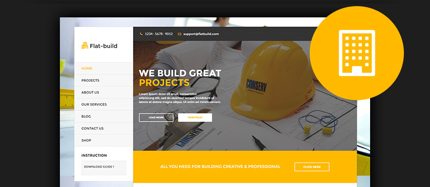 wordpress themes for builders construction tradesmen 2017