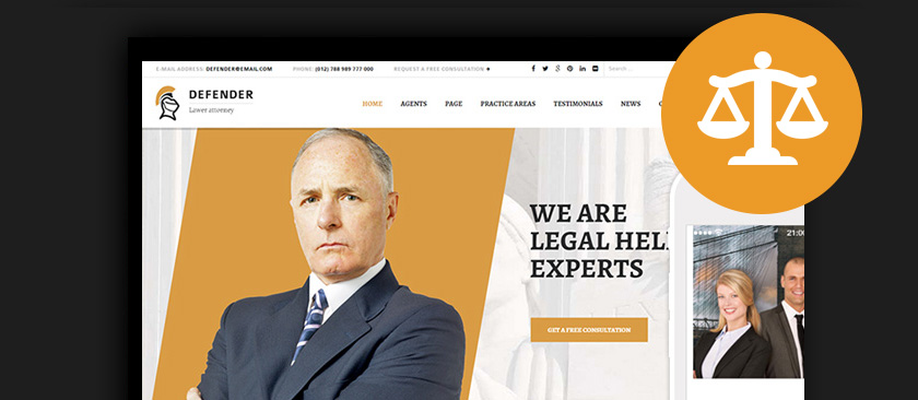 Best WordPress Lawyer Themes 2017 Law Firms & Attorneys