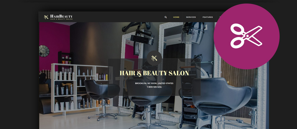 Best Hairdresser Hair Salon Barber WordPress Themes