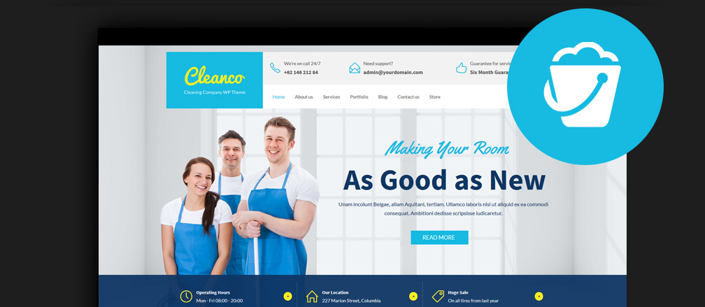20+ Best Cleaning Company WordPress Themes 2017 [Updated]