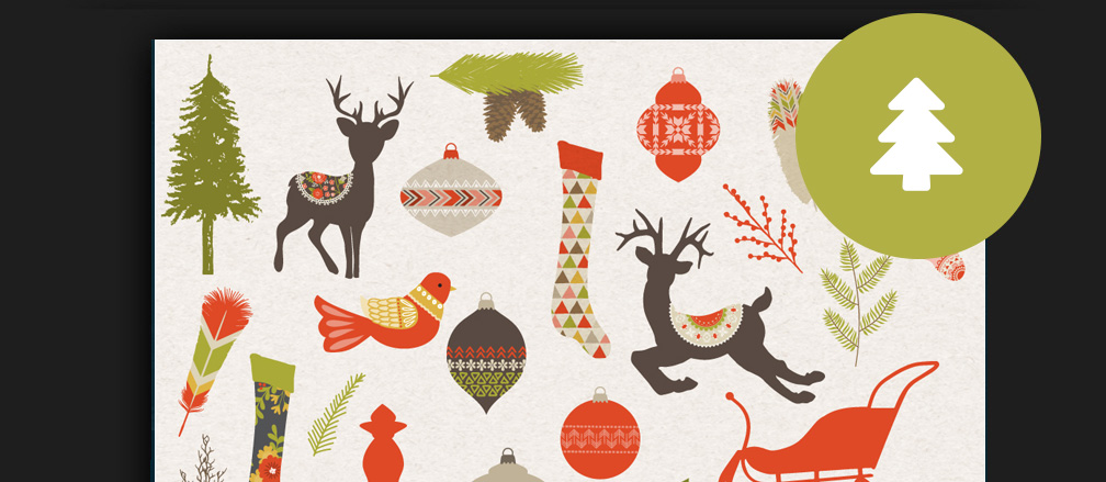 Christmas Illustrations.50 Best Christmas Graphics Clipart Icons Illustrations