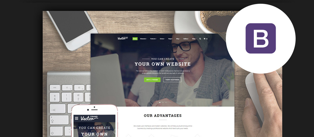 50 best business bootstrap templates 2017 50 best business bootstrap templates for corporate websites 2017 flashek Choice Image
