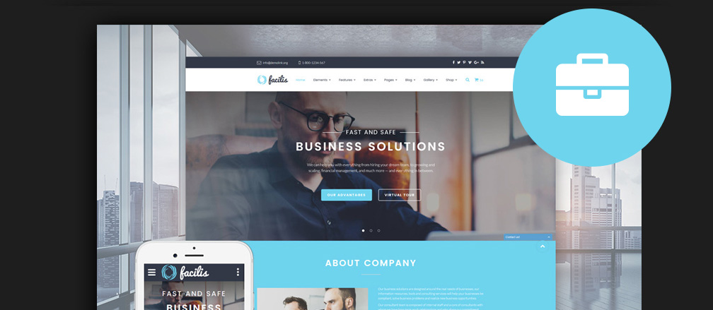 50 best html business website templates 2017 html business website templates flashek Choice Image
