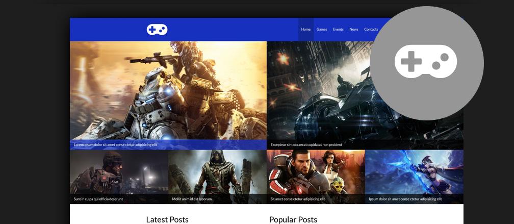 30+ Best HTML Video Games Website Templates 2017