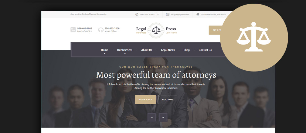 60+ Best HTML Lawyer & Law Firm Website Templates 2017