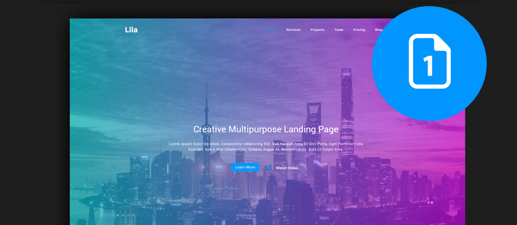 60+ Best HTML One Page Website Templates 2017