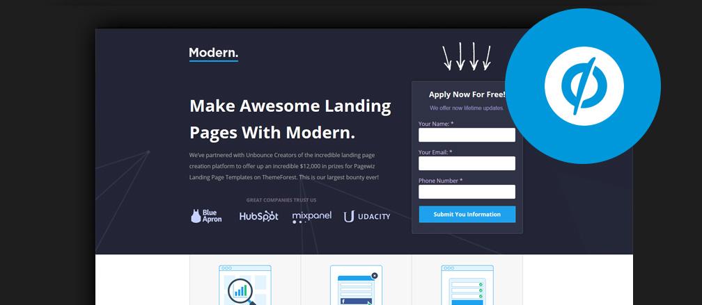 Build Beautiful Landing Pages 40 Best Unbounce Templates 2017