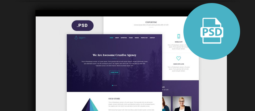free photoshop psd website templates - Free Web Templates