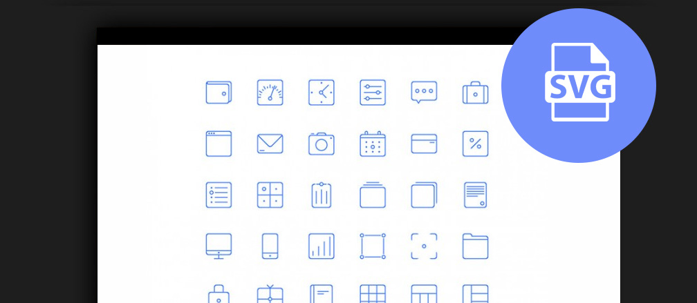 30+ Best Free Icon Sets for Web Designers 2017