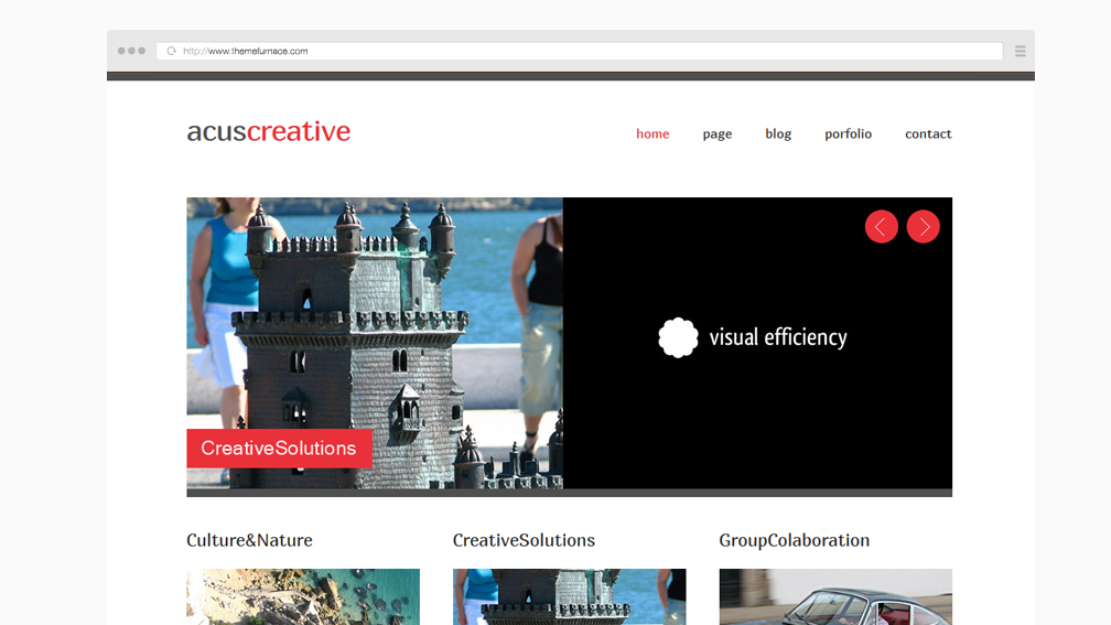 Acus Is A Free Responsive Website Template For Creative Companies