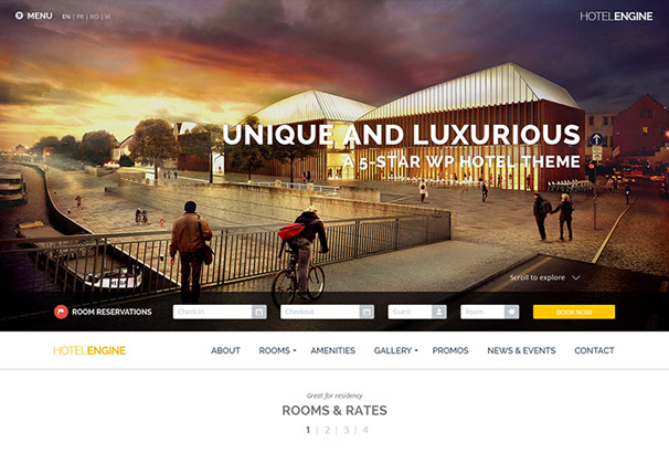 50+ Best WordPress Hotel Themes 2017
