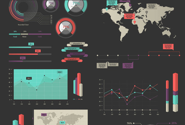 Free Tools Resources For Creating Infographics - Create us map infographic
