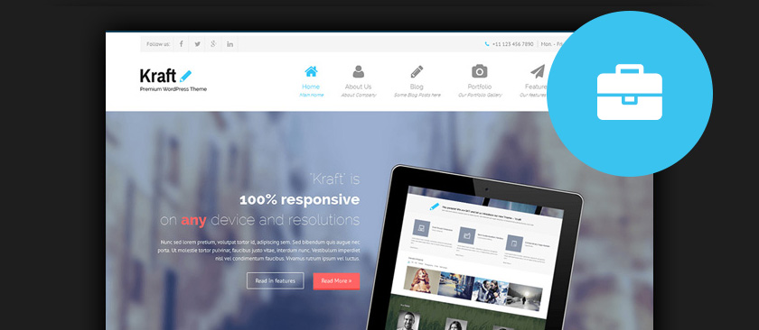 60 best responsive free wordpress business themes 2017 free wordpress business themes flashek Choice Image