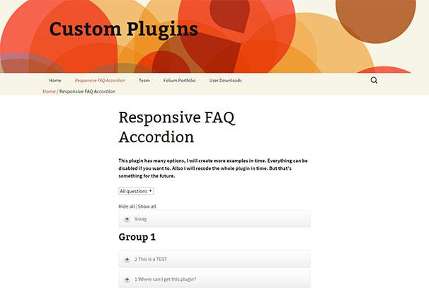 Responsive FAQ Accordion