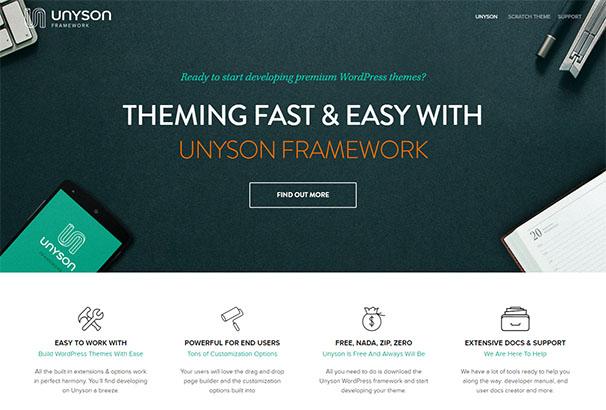 Unyson Framework Theme Fuse