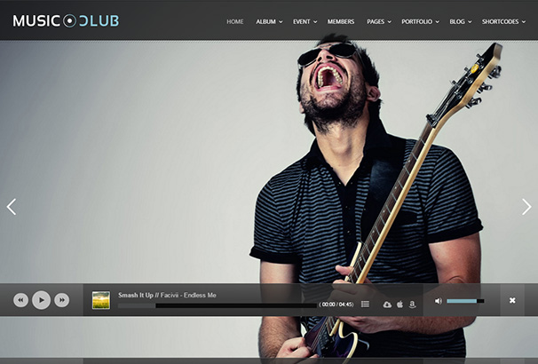 themeforest 21 Music CLub