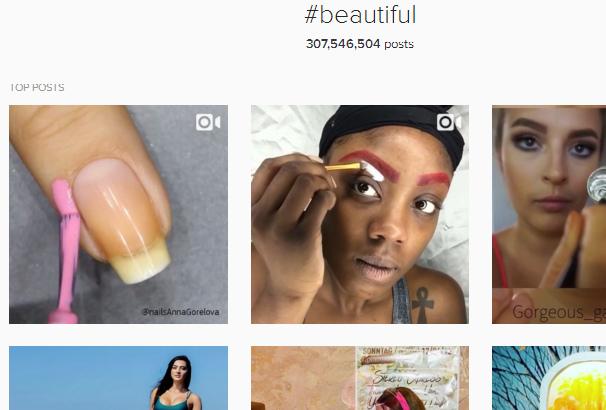 Instagram Hashtag Beautiful