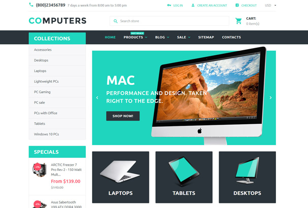 50 best premium responsive shopify themes 2017 for Shopify theme download