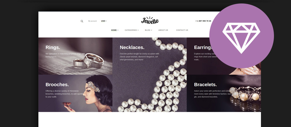Jewelry Website Design Examples