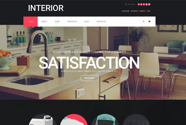 50+ Best Interior Design WordPress Themes 2017