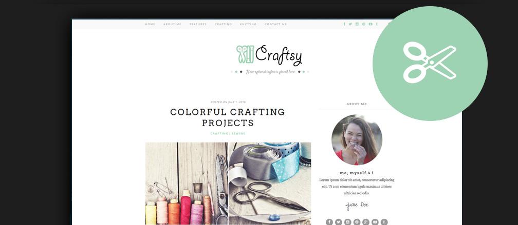 Hobby, Arts & Crafts and Handmade Goods WordPress Themes