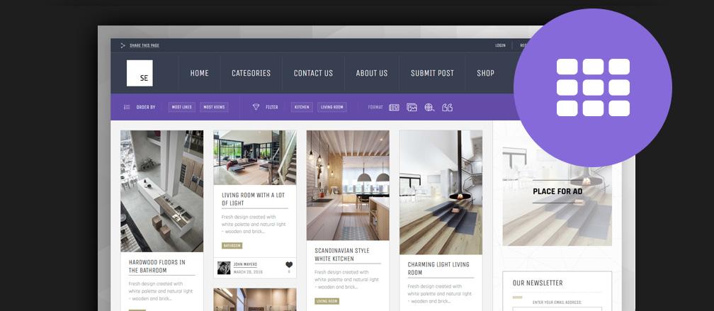 50+ Best Masonry Grid Pinterest Style WordPress Themes 2017