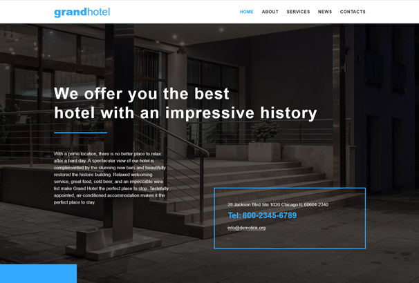 hotels-responsive-website-template