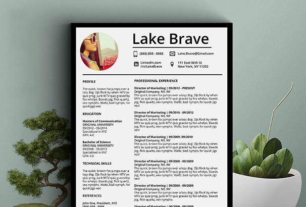 lake-brave-resume-cv-5-pack