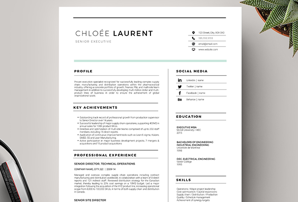 modern resume coverletter template