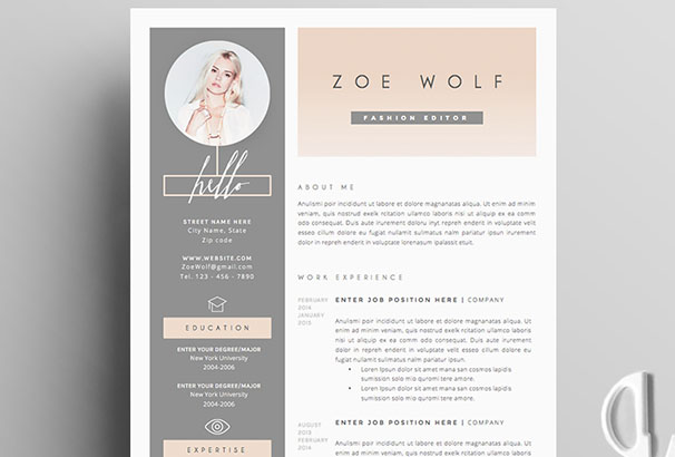 resume-template-4page-dolce-vita