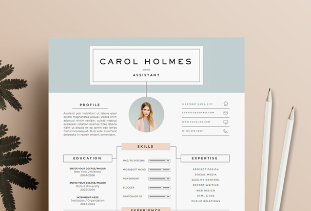 resume-template-4page-milky-way