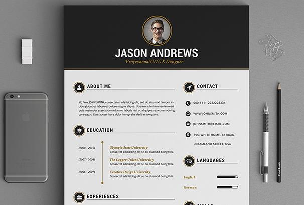 the-elegant-resume-cv-set-template