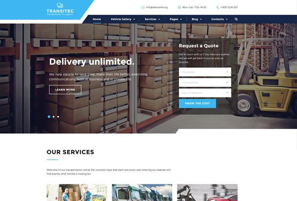 transportation-responsive-website-template