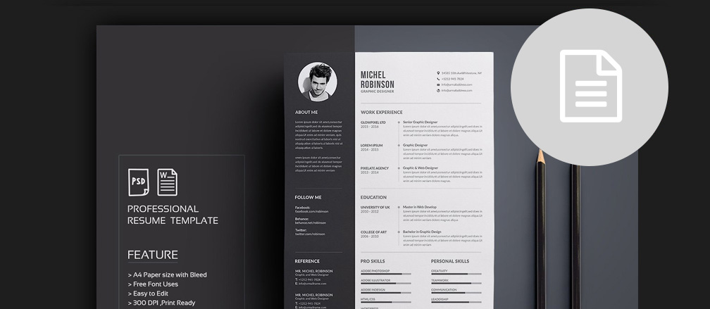 50 Cv Resume Cover Letter Templates For Word Pdf 2017 - Template-resume-word