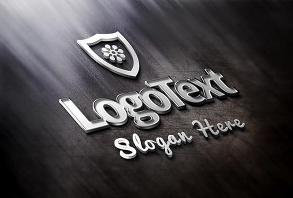 elegant-metallic-logo-mockup-psd