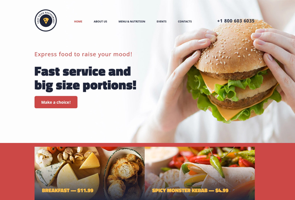 Restaurant HTML5 Website Themes