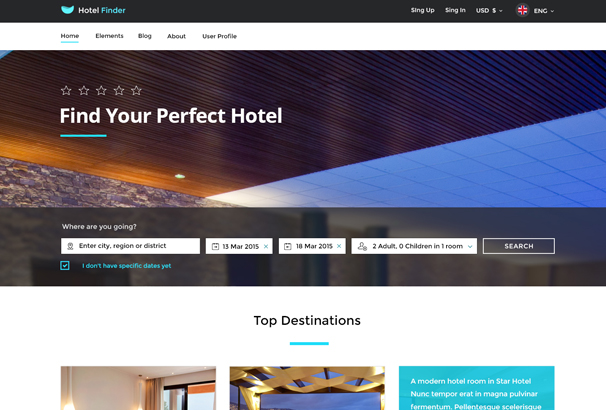 50 best html hotel website templates 2017. Black Bedroom Furniture Sets. Home Design Ideas