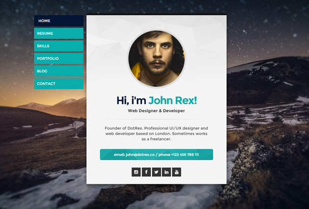 50 best html cv resume templates to 2017