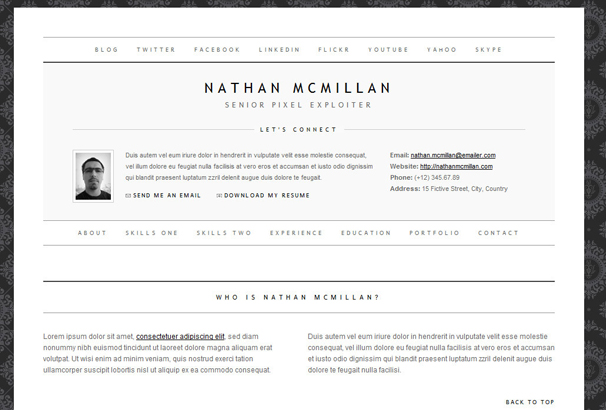 50 best html cv resume templates to download 2017. Resume Example. Resume CV Cover Letter