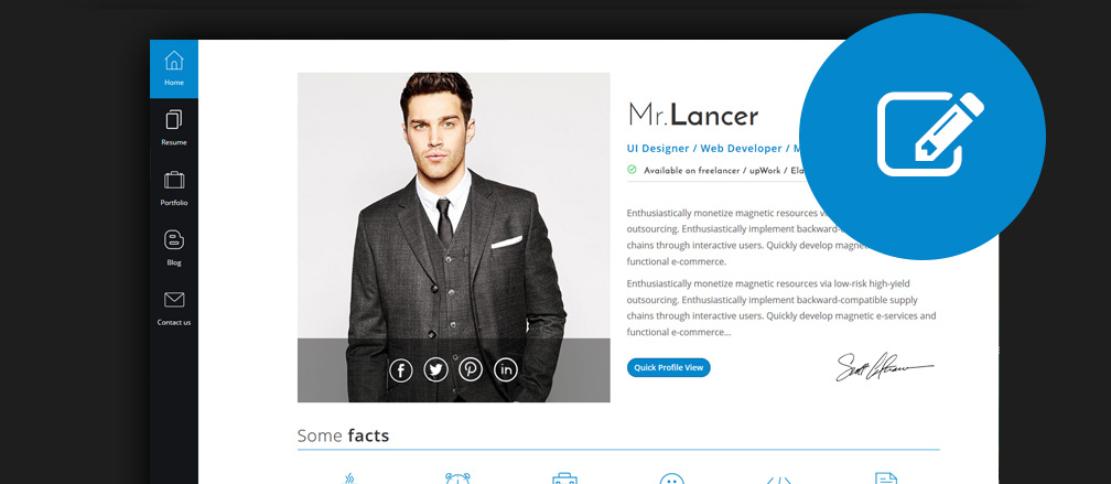 best html cv resume templates