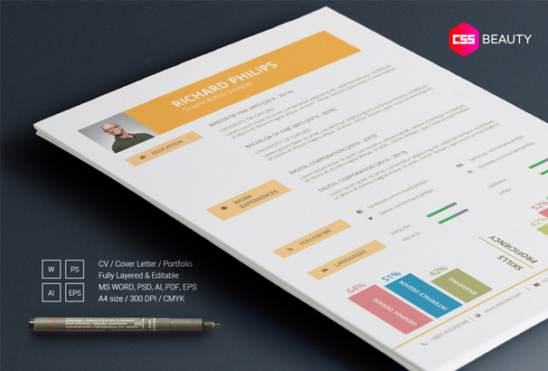 Well Written Resume Word  Cv  Resume  Cover Letter Templates For Word  Pdf  How To Write An Effective Resume Word with Sample Social Work Resume Excel This Is A Modern Designed Resume Template Suitable For Different Types Of  Job Applicants Who Need A Bright And Colorful Look To Their Resume Or Cv How To Do References On A Resume Word