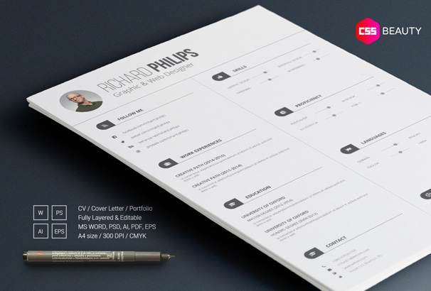 Resume Printing  Cv  Resume  Cover Letter Templates For Word  Pdf  Wyotech Optimal Resume with Resume Reference Examples Pdf The Resume Contains Space For Your Photo And Sections For Education Work  Experience Social Media Profiles Languages And Skills  Proficiency Bars  With  Stagehand Resume Pdf