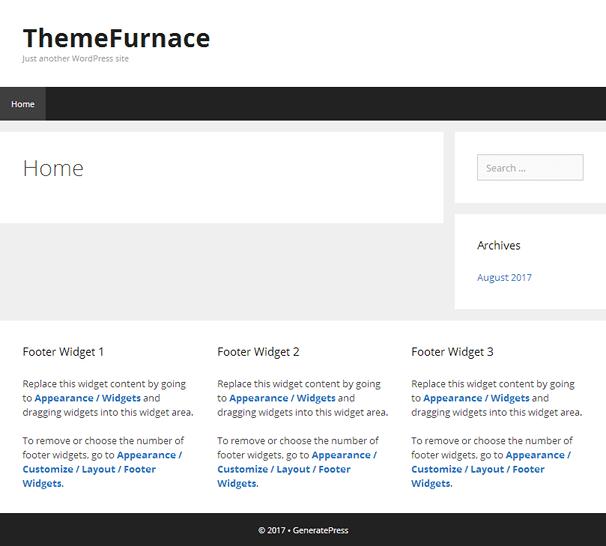 GeneratePress Homepage