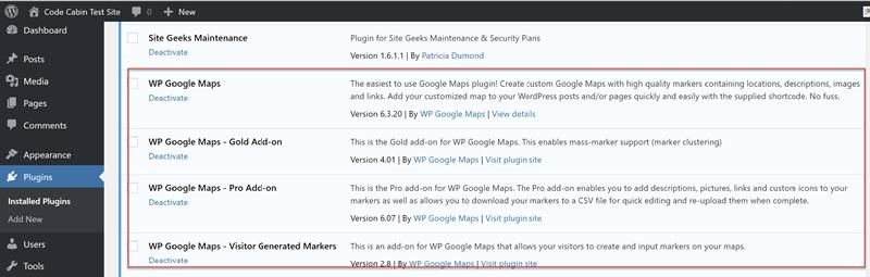 Installing WP Google Maps Pro